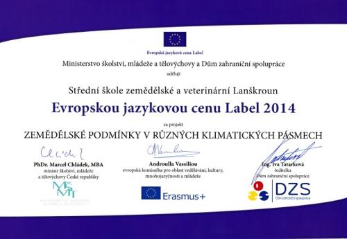 Cena Label 2014