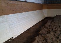 Opravené dřevěné obložení